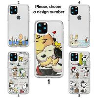 Snoopy Cartoon case for iPhone 12 11 Pro Max XR SE X XS 8 7 clear silicone SN