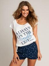 Ladies Pajama Shorts Set Naughty List PJs Ann Summers Pyjama Nightwear 10/12