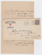 WW1 Johnson & Johnson Patriotic Camp A. A Humphreys VA 1918 Cover & Notes