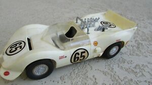 Cox 1:20 gas powered tether race car Chevy Chaparral 2 #65 Hall / Sharp 1965 Box