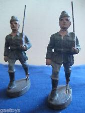 Soldat ancien Lot de 2 en  composition (linéol durso élastolin) Années 30