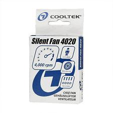COOLTEK Silent Fan 40x40x20mm geräuscharme Gehäuselüfter besonders laufruhig