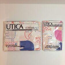 UTICA Custom Blend 1 Twin Flat Bed Sheet & Pillowcase Elephant Cats Lions - NEW