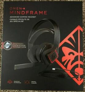 New HP OMEN Mindframe Prime Wired Gaming Headset Black w/ Frostcap 6MF35AA#ABL