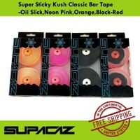 Supacaz Super Sticky Kush Classic Bar Tape -Oil Slick/Neon Pink/Orange/Black-Red