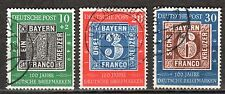 Germany - 1949 Stamp centenary - Mi. 113-15 VFU