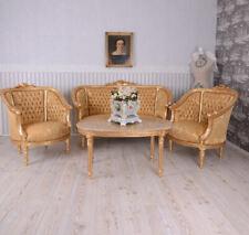 Sitzgruppe Barock Sitzgarnitur Salon Möbel Sofa Sessel Couchtisch Antik