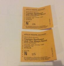 CAPTAIN BEETHEART AND THE MAGIC BAND CONCERT TICKETS X2 APOLLO THEATRE 1980