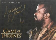 Lucian Msamati Gold Autograph, Game of Thrones Complete Series