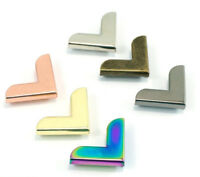 """Emmaline Bags Metal corners 20mm/ 3/4"""" - range of finishes - for bags & crafts"""