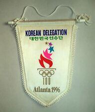 Korean Olympic Committee Delegation NOC Atlanta 1996 Pennant Flag