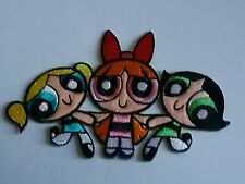 "5"" Powerpuff Girls  Iron on Patch patches Free Shipping power girl embroidered"