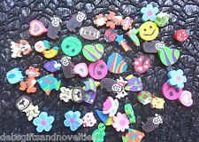 Bulk Lot  50 Mini Mixed Rubber Erasers Teacher Rewards Party Favor Toy Novelty