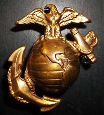 Rare! Original WW2 Large OLD USMC Bronze Visor Cap EGA Insignia Hat Badge helmet