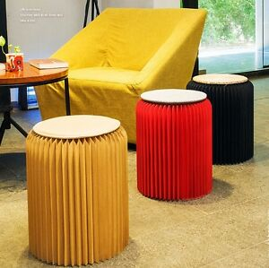 H42cm home furniture modern stool folding chair-fashion paper design with 1 Mat