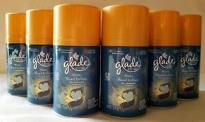 6 Glade Warm Flannel Embrace Automatic Spray Refills Fern Sandalwood Limited New