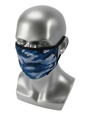 Blue Camouflage Face Covering