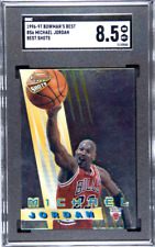 Michael Jordan Bulls HOF 1996-1997 96-97 Bowman's Best Shots #BS6 SGC 8.5 NM/MT+