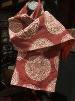Vintage Japanese Red Brocade Scarf Wrap