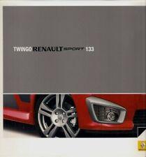 Renault Twingo RenaultSport 133 2008-09 UK Market Foldout Sales Brochure