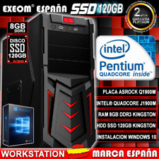 Ordenador Gaming Pc Intel 9,6GHz 8GB RAM 120GB SSD HDMI De Sobremesa Windows 10