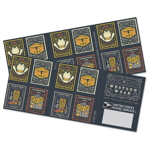 US 5615-5618 5618b Western Wear forever booklet (20 stamps) MNH 2021 after 7/31