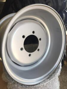 """Oversize Heavy Duty Tractor Front Wheel Rims 6"""" Stud Centre 11.5/80x15.3 Ford/MF"""