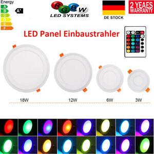 RGB LED Panel Einbaustrahler Deckenleuchte Einbauleuchte Spot Lampe Badleuchte