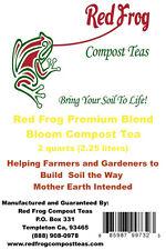 2 Qts Red Frog Bloom Blend Compost Tea Plant Nutrients;Flowerbeds & Rose Garden