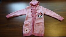 Disney Minnie Mouse Long Hooded Cardigan size 2T-3T Pink