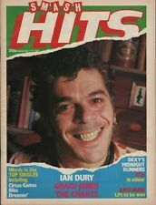 Ian Dury on Smash Hits Magazine Cover 1980  Dexy's Midnight Runners  Grace Jones