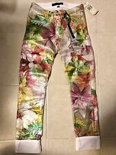 JUICY COUTURE TROPICAL FLORAL FOIL STRAIGHT CROP WOMENS JEANS 24 NEW