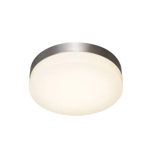 "Catalina, 11"" Brushed Nickel Dimmable LED Ceiling Light w 3 Bright Settings"