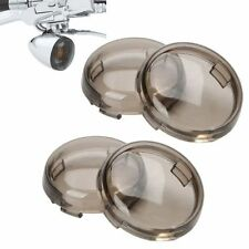 4x Turn Signal Light Smoke Lens Cover f/ Harley Electra Glide Sportster Touring