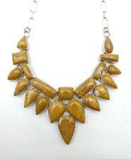 Natural Yellow Aventurine silver overlay Handmade Necklace