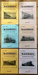 'Railways' Magazines 1946 & 47 Published By Railway World Ltd.