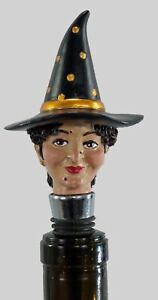 Witchy Poo Happy Halloween Wine Bottle Topper Stopper