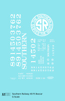 K4 G 1:32 Decals Southern Railway 40 Ft Boxcar White
