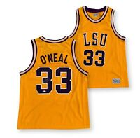 Shaquille O'Neal Autographed LSU Tigers Official Basketball Jersey Beckett COA