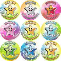 144 Star of the Week 30 mm Reward Stickers for School Teachers, Parents, Nursery