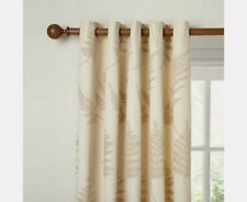 John Lewis Chenille Fern Lined Eyelet Curtains Natural W167 x D182cm