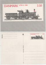 Echte Briefmarken aus Dänemark mit Eisenbahn-Motiv