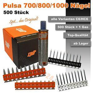 500 x Spit Pulsa 700 700P 700E 800 800P 800E 1000 Nägel alle Varianten