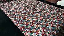 """RED HEART QUILT PATCHWORK PRINT 100% COTTON FABRIC QUILTING UPHOLSTERY 45""""W BTY"""