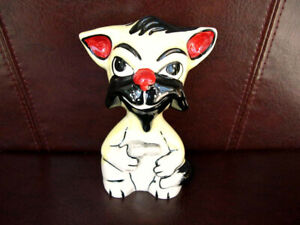 Lorna Bailey Cat Harry Make My Day Collectable Signed With Beard and Revolver
