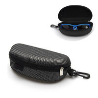 NEW Zipper Sunglasses Eye Glasses Clam Shell Hard Case Protector Box Portable