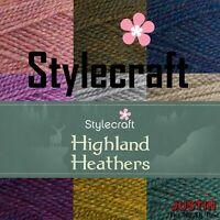 Stylecraft Highland Heathers DK Premium Acrylic Crochet Yarn Wool 100g