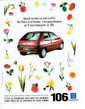 Publicité advertising 118  1994   la Peugeot 106