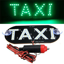 Auto Green 45 LED Cab Taxi Roof Sign Light 12V Vehical Inside Windscreen Lamp  X