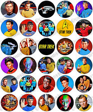 30 X de Star Trek Original Series parte comestible de arroz Oblea papel Cupcake Toppers